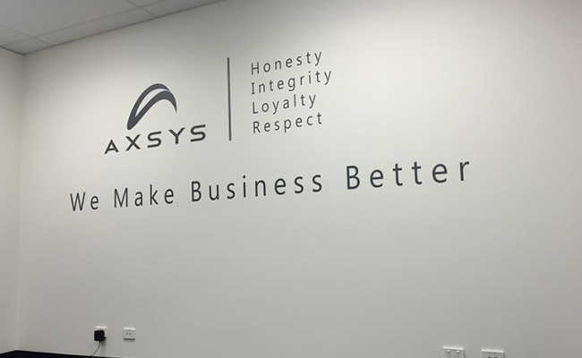 23: Die Cut Wall Lettering – AXSYS