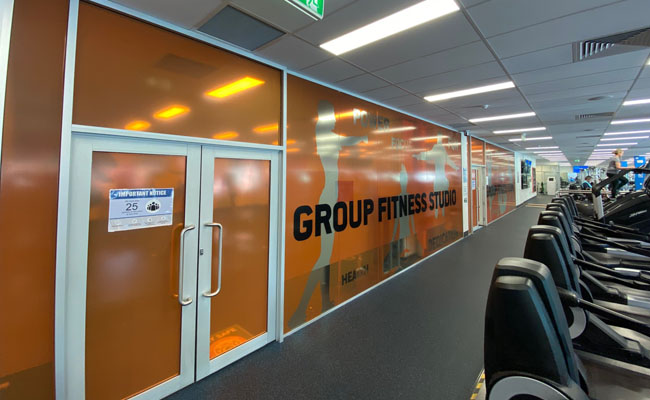 71 Window Graphics – Group Fitness